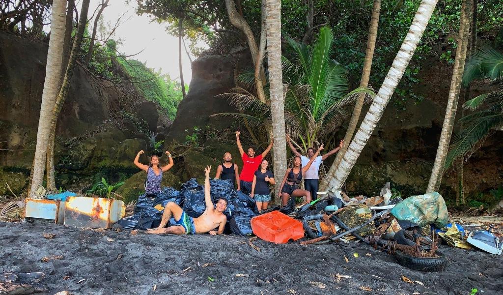 L'équipe Clean My Island lors de sa première édition